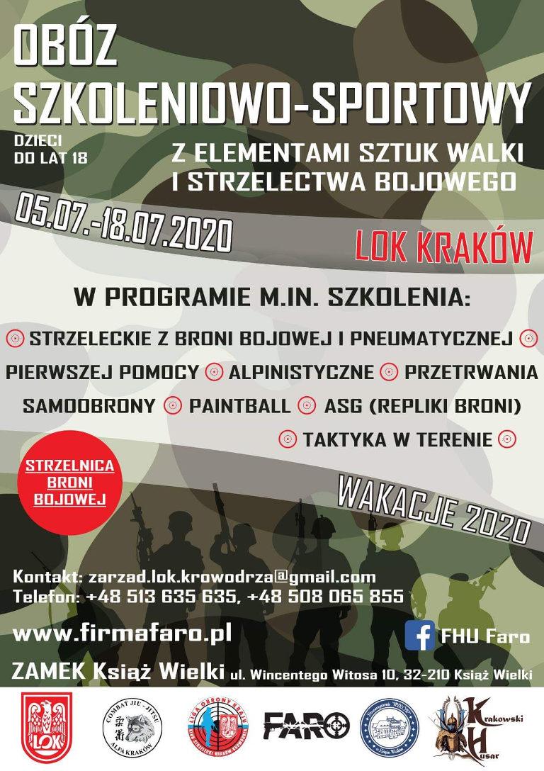 Obóz Wakacyjny 2020 - Szkoleniowo Sportowy